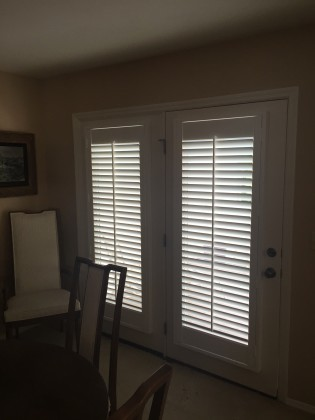 Shutters Over French Doors In Chesterfield St Louis