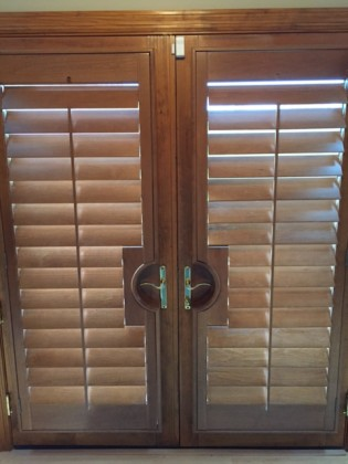 Shutters French Door Cutout in Chesterfield - St. Louis Blinds ...