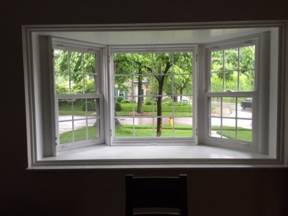 Plantation Shutters over Bay Window