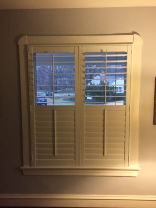 Real wood shutter
